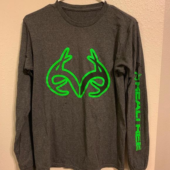 New Real Tree Crew Neck T Shirt Large J1 3